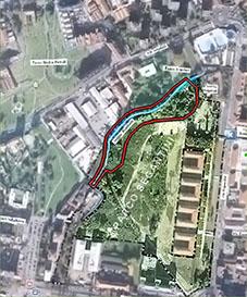 Ubicazione del parco, della roggia Boniforti e dell'area OasInCittà