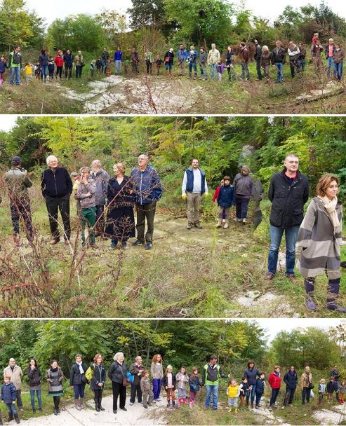 ottobre 2013: abbiamo aperto un sentiero per una visita guidata dei soci nell'area