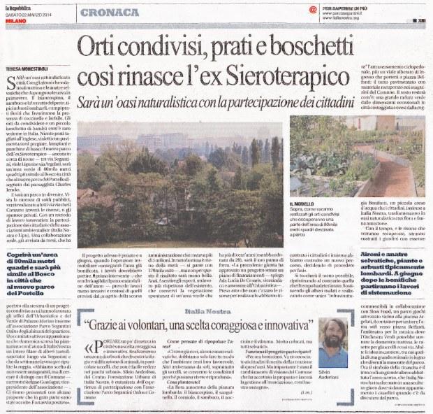 Repubblica Milano, 22 marzo 2014
