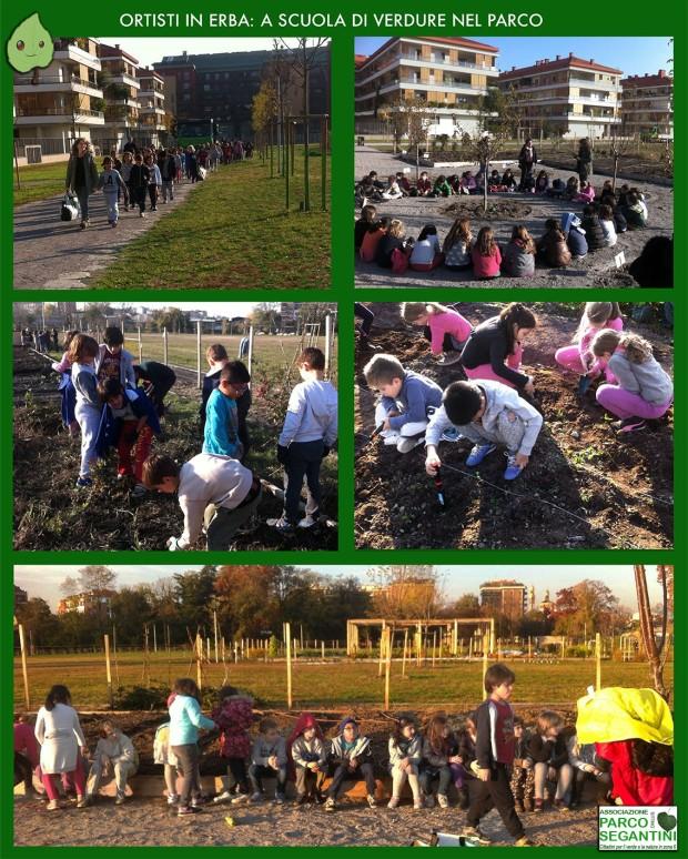 Coloratissimi ed entusiasti, i bambini delle primarie imparano i segreti della terra nelle prose a loro riservate. Un appuntamento  gioioso per il parco.